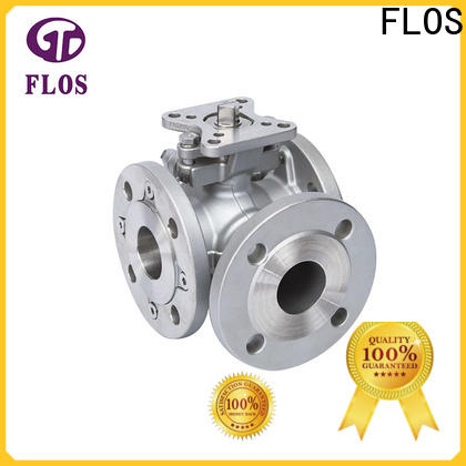 FLOS New three way ball valve factory for closing piping flow