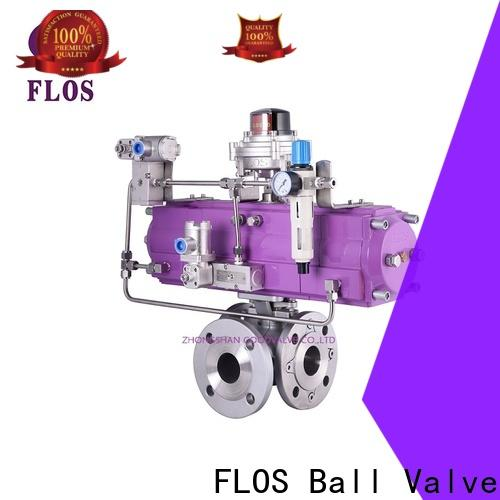 FLOS pneumatic 3 way valves ball valves Suppliers for closing piping flow