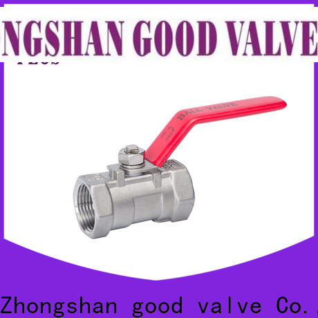 Wholesale single piece ball valve economic factory for closing piping flow
