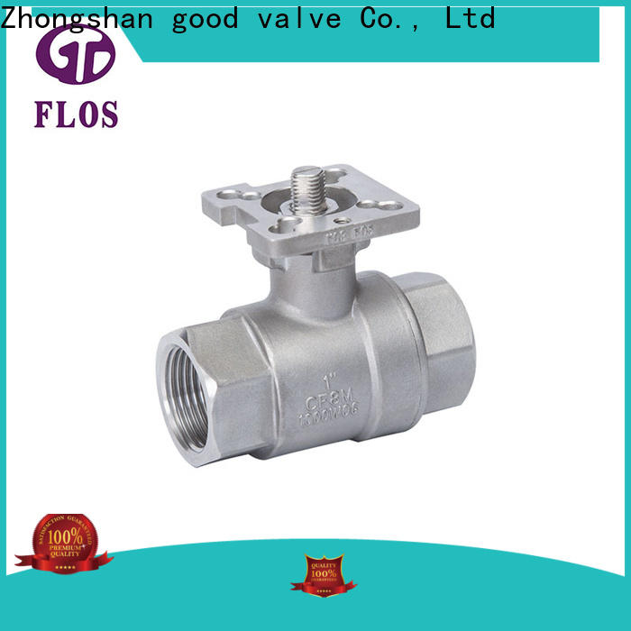 FLOS Custom 2 piece stainless steel ball valve company for closing piping flow