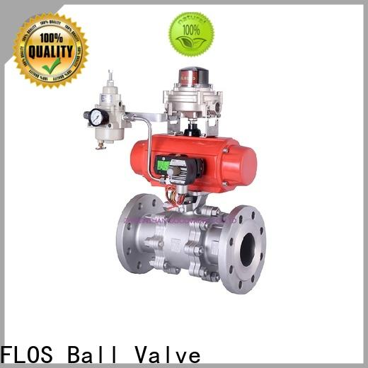 FLOS pneumaticworm 3-piece ball valve Suppliers for closing piping flow
