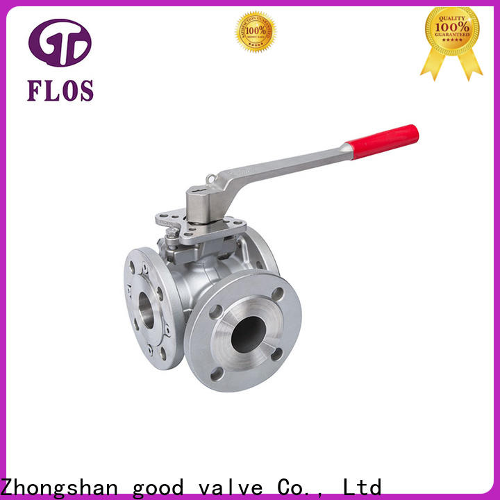 FLOS valveflanged three way ball valve for business for opening piping flow