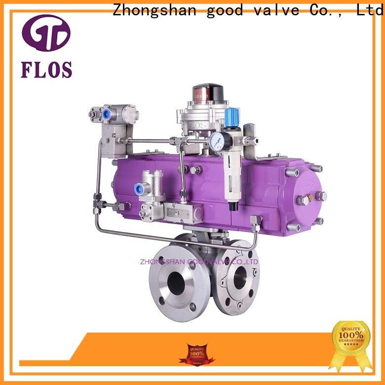 FLOS pneumatic 3 way ball valve manufacturers for closing piping flow