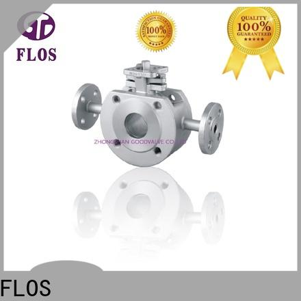 FLOS ends 1 pc ball valve factory for closing piping flow