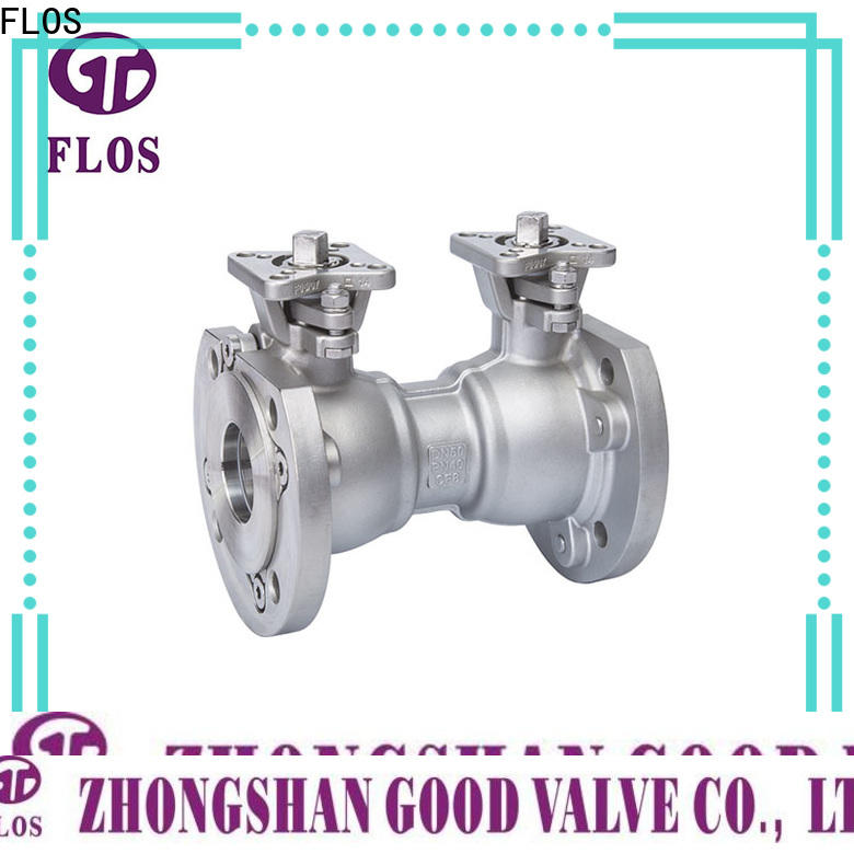 FLOS stainless one piece ball valve Supply for opening piping flow