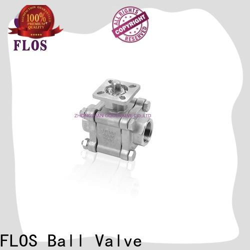 FLOS Custom three piece ball valve Supply for opening piping flow