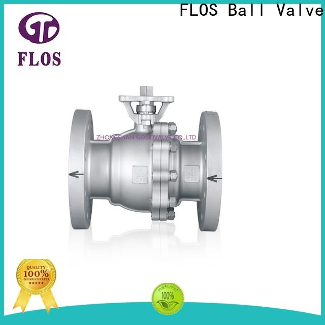 Latest two piece ball valve flanged company for directing flow
