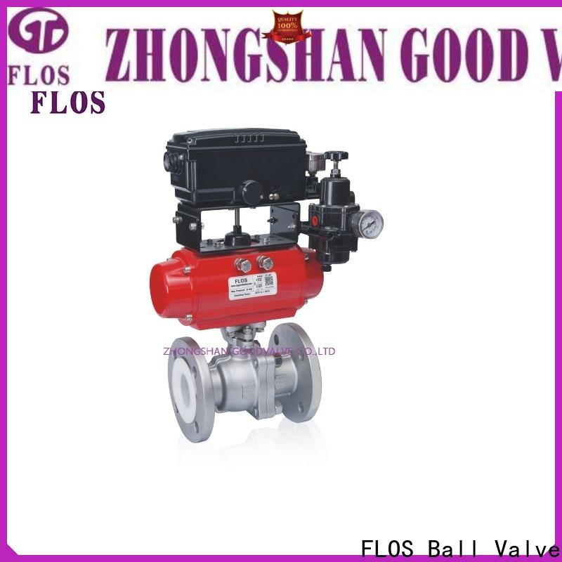 Custom two piece ball valve switchflanged company for closing piping flow