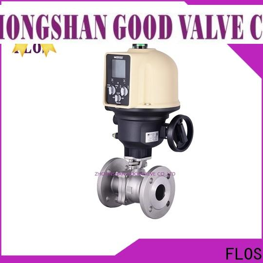 FLOS positionerflanged two piece ball valve manufacturers for opening piping flow