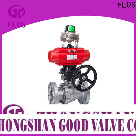 FLOS Custom 2 piece stainless steel ball valve factory for closing piping flow