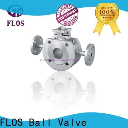 FLOS threaded 1 pc ball valve company for closing piping flow