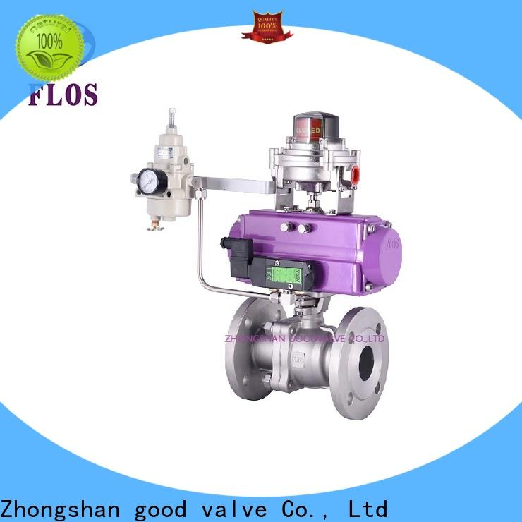 FLOS positionerflanged ball valves Supply for closing piping flow