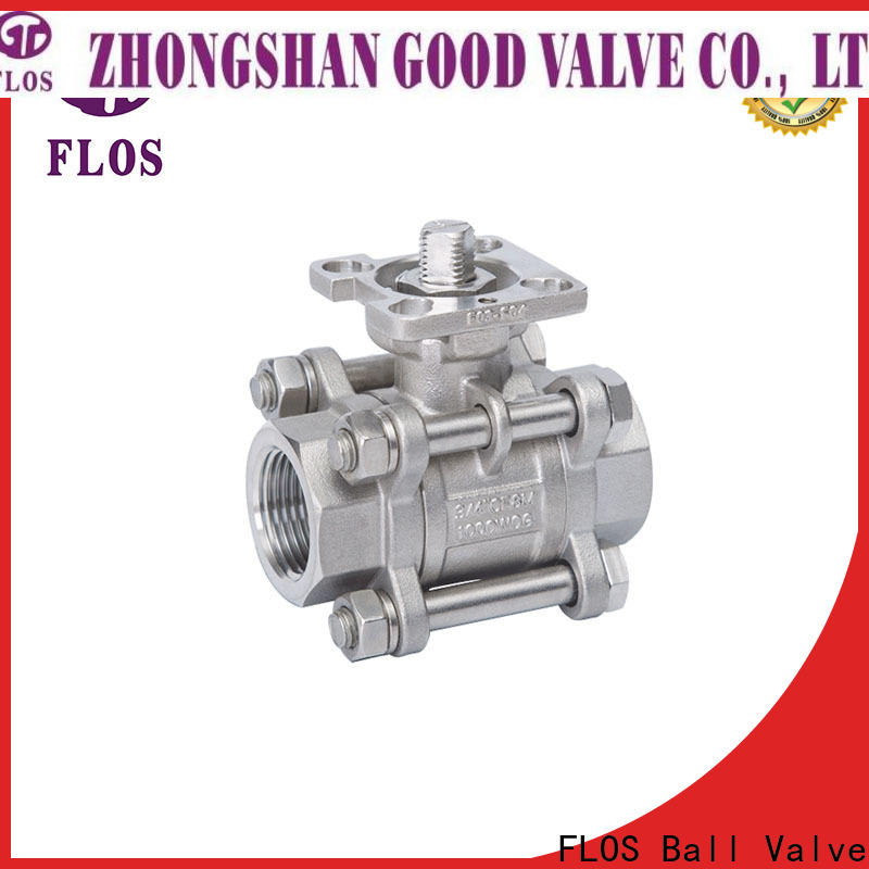FLOS ends stainless valve factory for closing piping flow