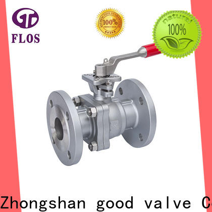 FLOS positionerflanged 2 piece stainless steel ball valve Supply for opening piping flow
