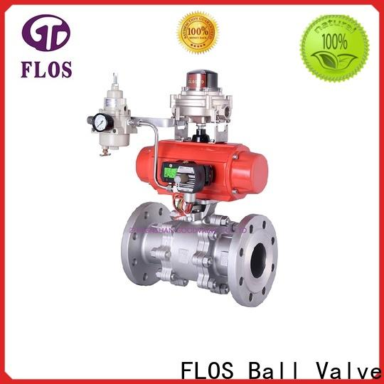 FLOS ends 3 piece stainless steel ball valve Supply for opening piping flow