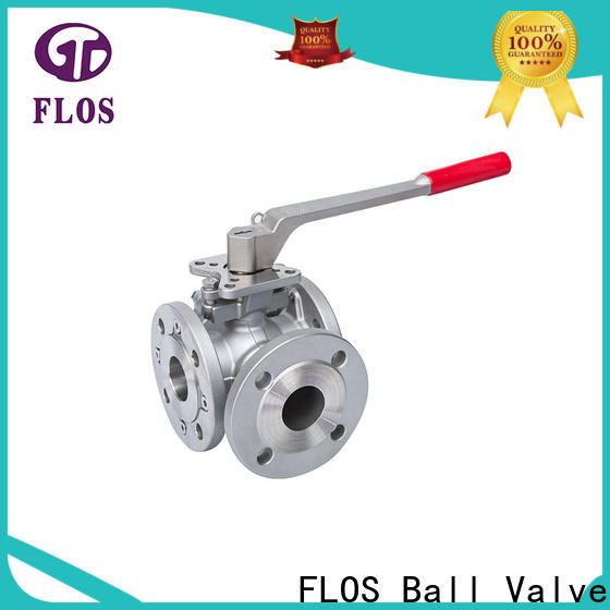 FLOS manual 3 way flanged ball valve company for closing piping flow