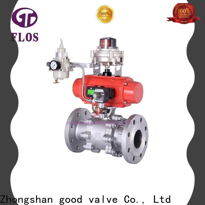FLOS position 3 piece stainless ball valve factory for opening piping flow