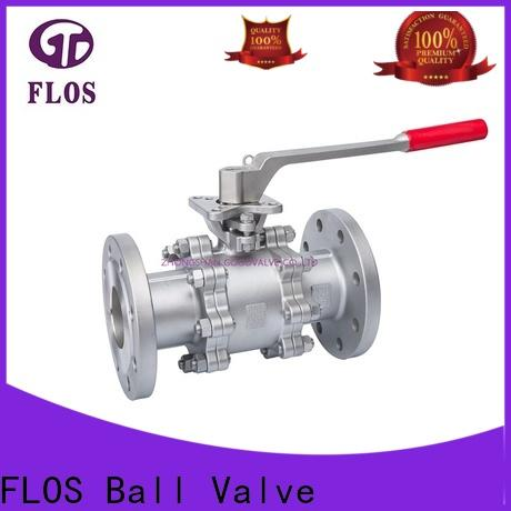 FLOS Best 3 piece stainless steel ball valve manufacturers for opening piping flow