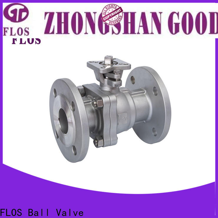 FLOS pneumatic 2 piece stainless steel ball valve company for opening piping flow