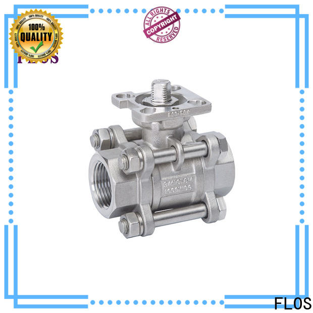 FLOS flanged 3-piece ball valve Suppliers for directing flow