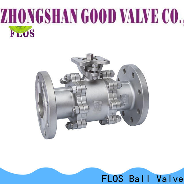 FLOS flanged 3-piece ball valve company for opening piping flow