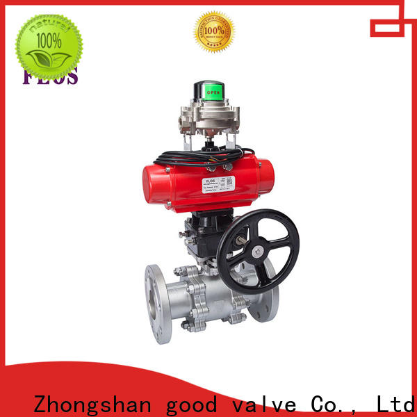 FLOS position 3 piece stainless steel ball valve company for closing piping flow