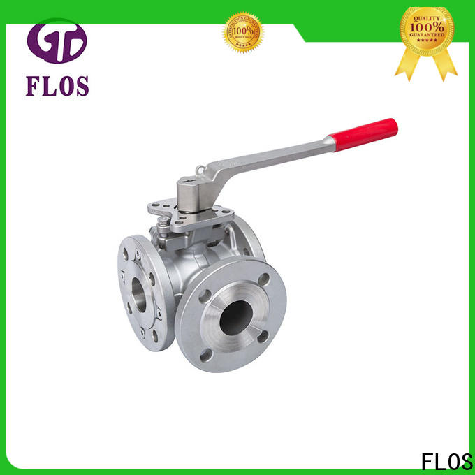 FLOS valveflanged three way ball valve suppliers company for directing flow