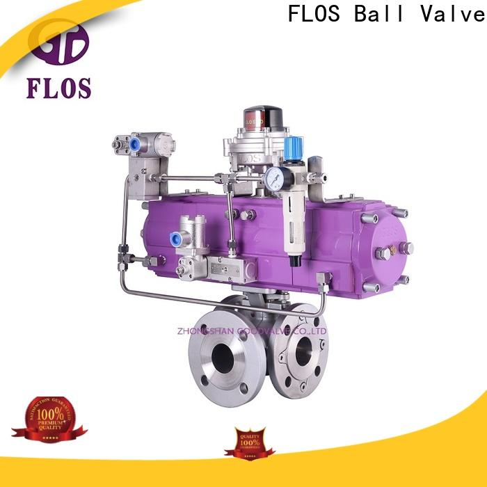 FLOS Top flanged end ball valve Suppliers for directing flow
