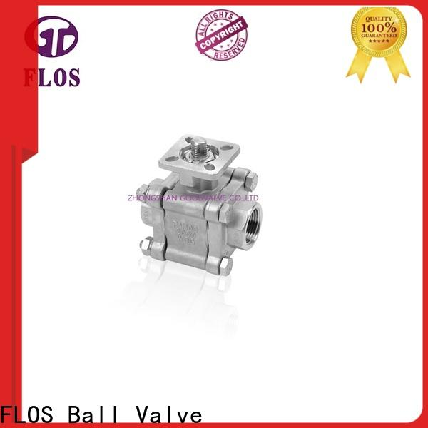 FLOS ball 3 piece stainless steel ball valve factory for opening piping flow