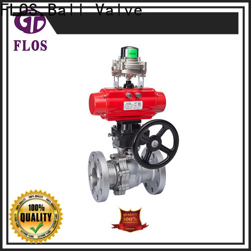 FLOS positionerflanged ball valves for business for closing piping flow