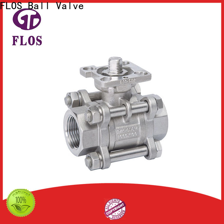 FLOS Best 3 piece stainless ball valve factory for closing piping flow