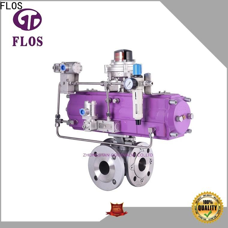 FLOS flanged multi-way valve manufacturers for opening piping flow