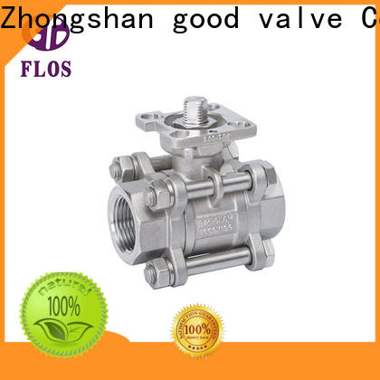Custom 3 piece stainless steel ball valve switchflanged Suppliers for closing piping flow