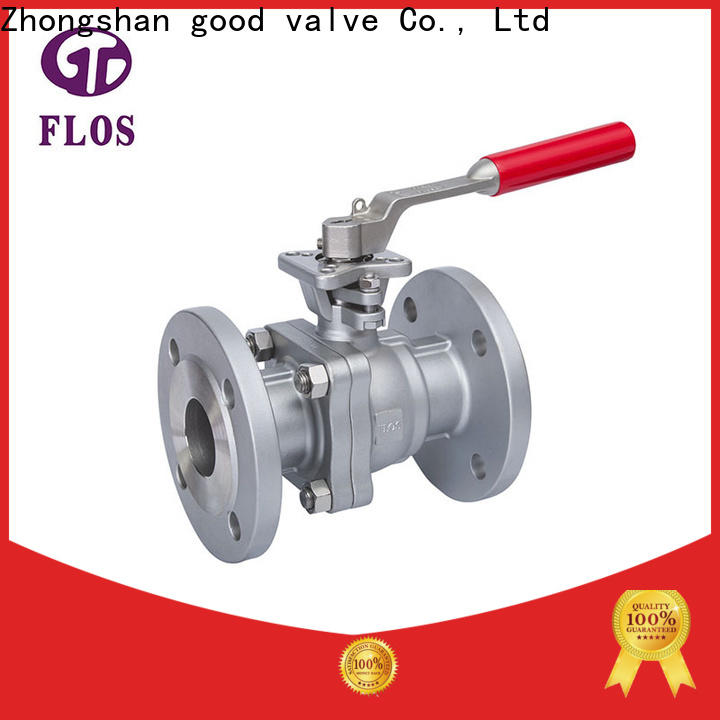 FLOS Custom 2 piece stainless steel ball valve Supply for closing piping flow