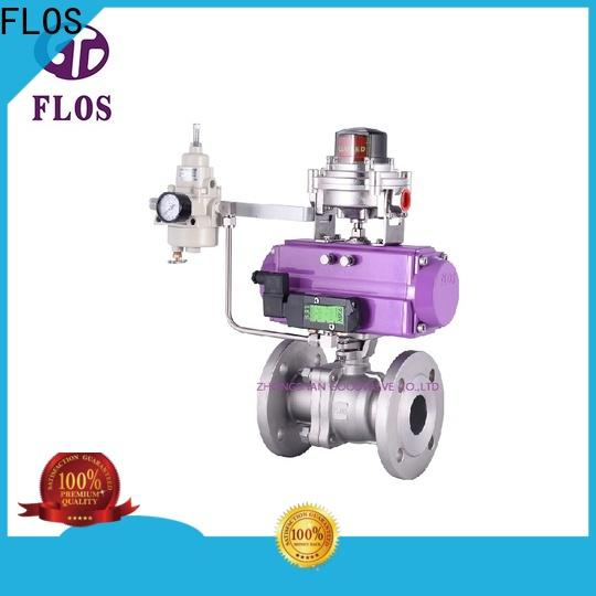 FLOS positionerflanged ball valve manufacturers Suppliers for directing flow