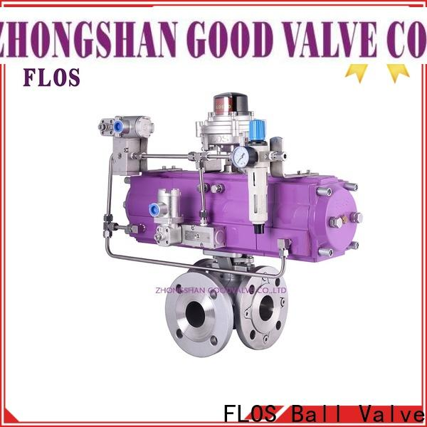 FLOS position 3 way flanged ball valve Supply for opening piping flow