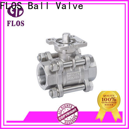 FLOS pc 3 piece stainless ball valve Supply for opening piping flow