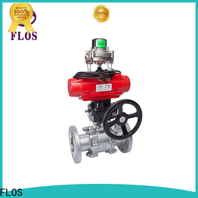 FLOS pneumatic 3-piece ball valve for business for directing flow
