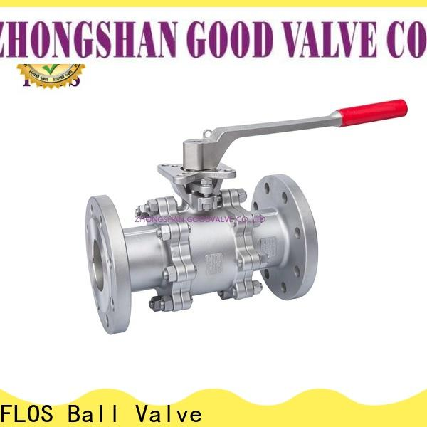 FLOS New three piece ball valve Supply for opening piping flow