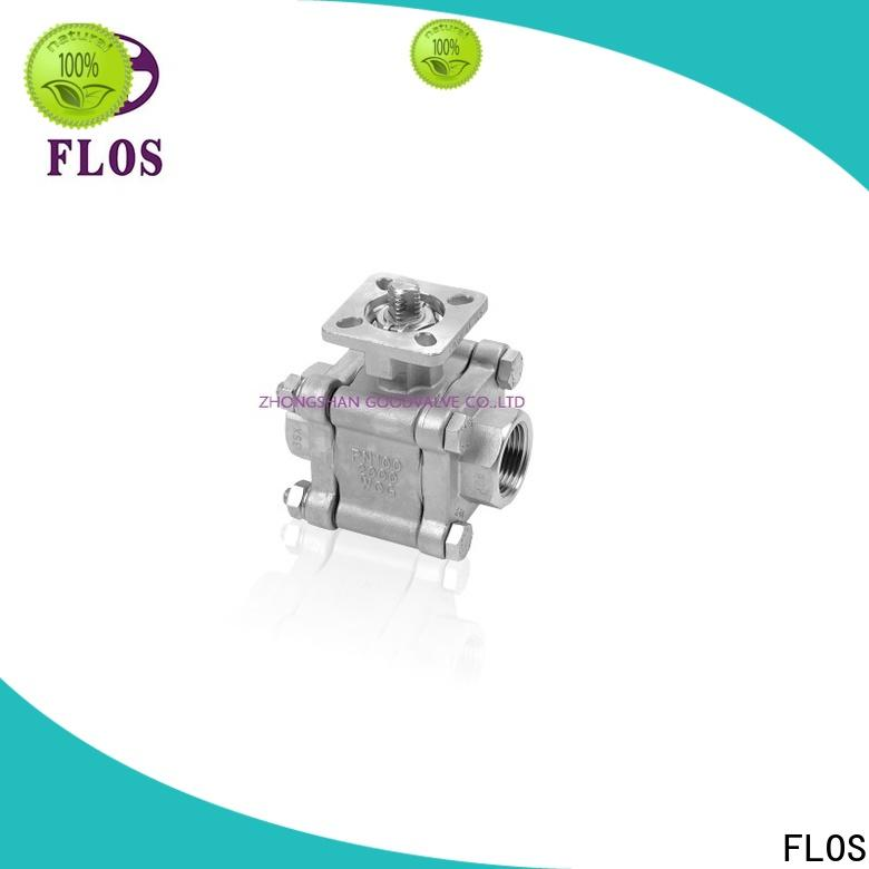 FLOS Custom 3 piece stainless steel ball valve company for opening piping flow