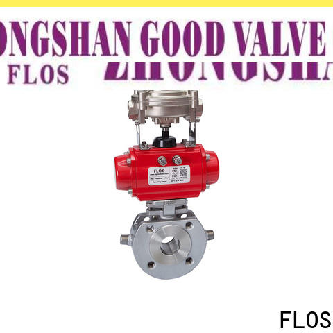FLOS wafer single piece ball valve company for closing piping flow