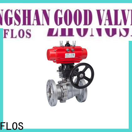FLOS pneumaticworm ball valves manufacturers for closing piping flow