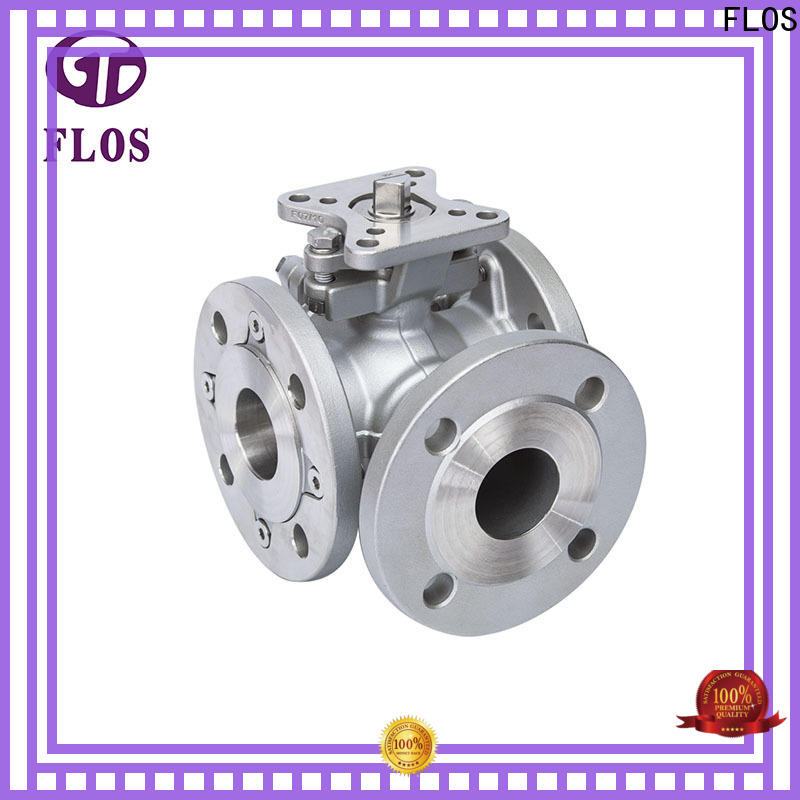 FLOS New stainless 3 way ball valve for business