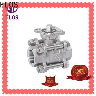 FLOS New ss ball valve flange type factory